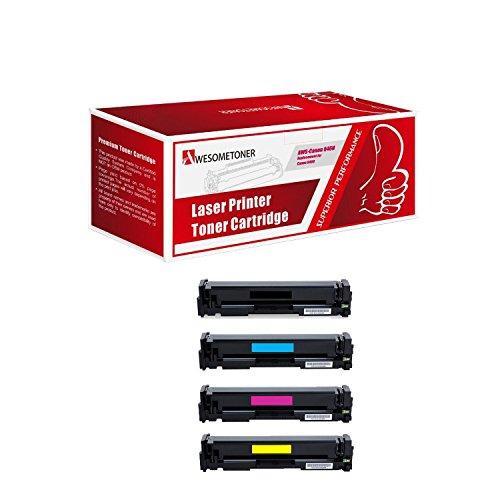 Awesometoner Compatible 4 Pack Toner Cartridge For Canon 046 H BK C M Y imageclass mf735cdw mf733cdw mf731cdw High Yield BK 6300 C M Y 5000 Pages -  AWS-Canon 046 H BK C M Y