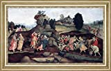 "Moses Brings Forth Water out of the Rock by Filippino Lippi - 17"" x 29"" Framed Premium Canvas Print"