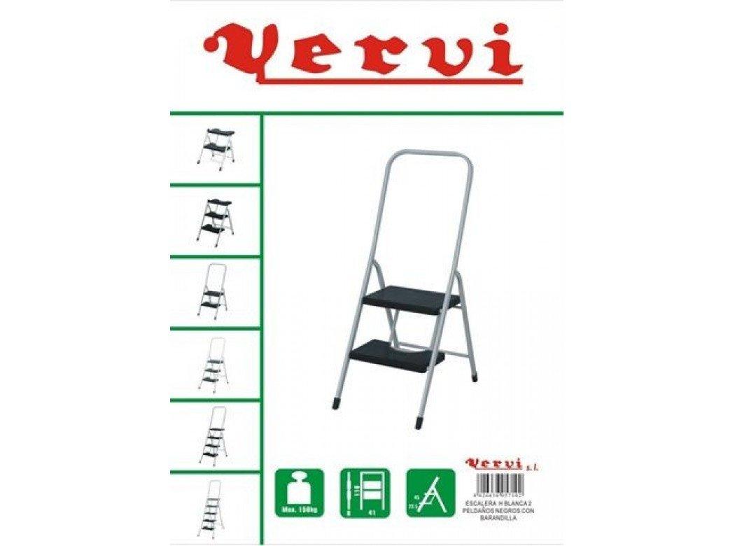 VERVI - Escalera 2 P C/Barandil Alta Vervi: Amazon.es: Bricolaje y herramientas