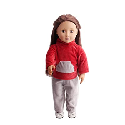 18 Pulgadas Muñeca de conjunto uniforme ropa accesorios, upxiang hecho a mano Lovely Fashion muñeca