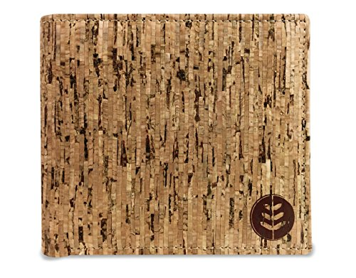 Money Smart Vegan Wallet Made of Eco Friendly Renewable Cork, Slim Cruelty Free RFID Blocking Wallet With Extra Capacity For Notes Credit Cards & IDs