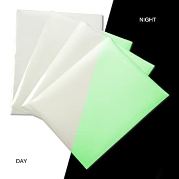 Glow in Dark Heat Transfer Vinyl Sheets Glossy