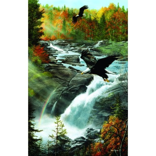 Eagles At the Waterfall - 1000 Piece Jigsaw Puzzle By Sunsout Inc. 1000pc Sunsout Jigsaw Puzzle