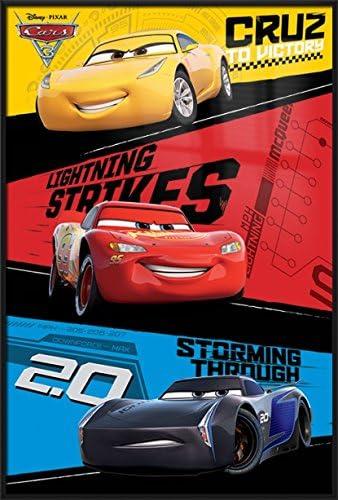 Disney Movie Cars McQueen Slip Stream Supercars Panel Cotton fabric