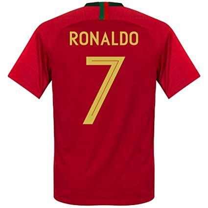 7f17a747fdc Nike Portugal Home Kids Ronaldo 7 Jersey 2018 2019 (Fan Style Printing) -