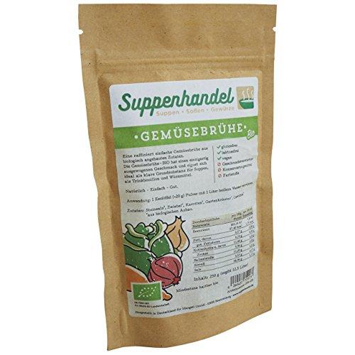 Gemüsebrühe BIO - 600g (29,17€ / kg), rein pflanzlich, vegan, gluten- u. laktosefrei, ohne Hefeextrakt