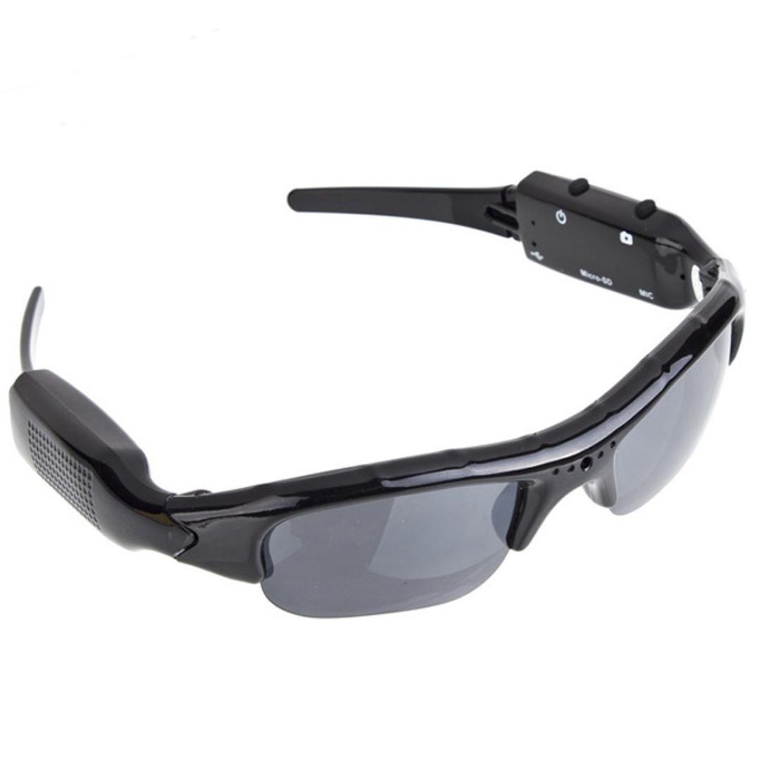 SUKEQ Camera Sunglasses, High-Def HD Video Recording Sport Sunglasses with Hidden Camera for Outdoor Riding Hiking