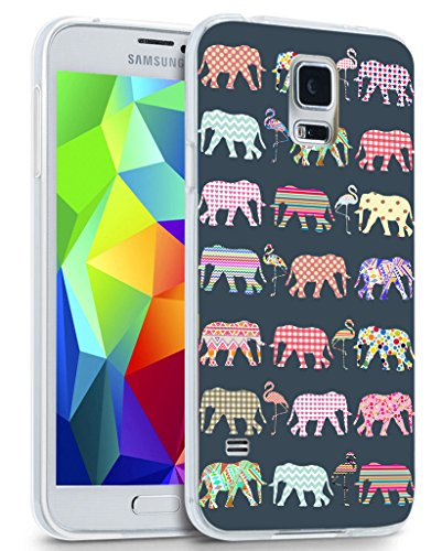 Note 4 Case Elephant - CCLOT Samsung Galaxy Note 4 Cover Protective Colorful Beautiful Elephant Animal Theme (Flexible Soft Protective Rubber Cover)