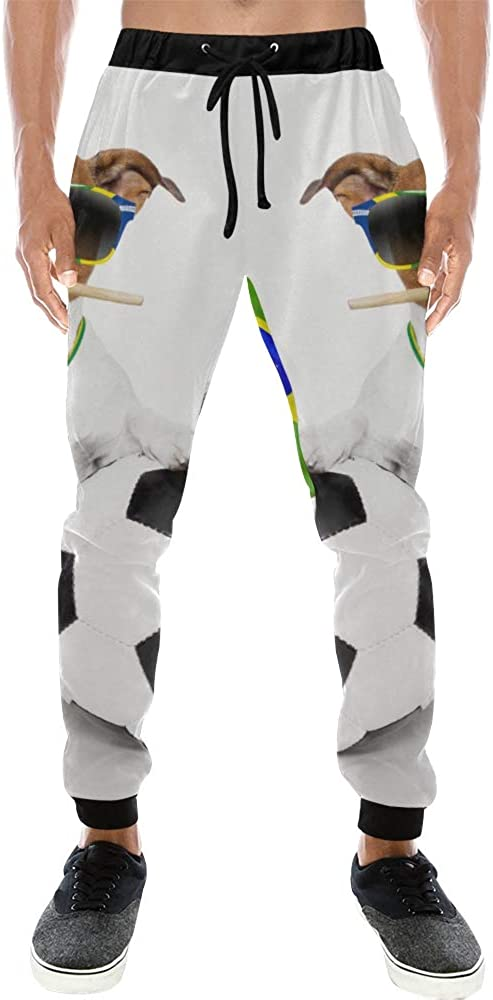 Unisex 3D Printed Graphric Sport Jogging PantsBrazil Soccer Dog Ball MedalCasual Sweatpants