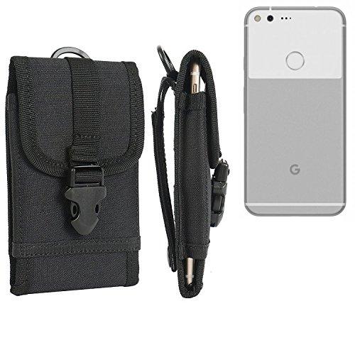 bolsa del cinturón / funda para Google Pixel XL, negro | caja del teléfono cubierta protectora bolso - K-S-Trade (TM)