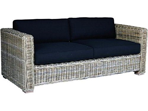gartencouch 3er sofa rattan mit kissen 190cmx85cmx70cm gartenm bel g nstig kaufen. Black Bedroom Furniture Sets. Home Design Ideas