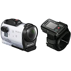Sony HDR-AZ1VR Waterproof Action Cam Mini with RM-LVR2V Live View Remote Watch and Tripod Adapter (Wi-Fi, GPS Tagging, 11.9MP Photos, 1080P Video)