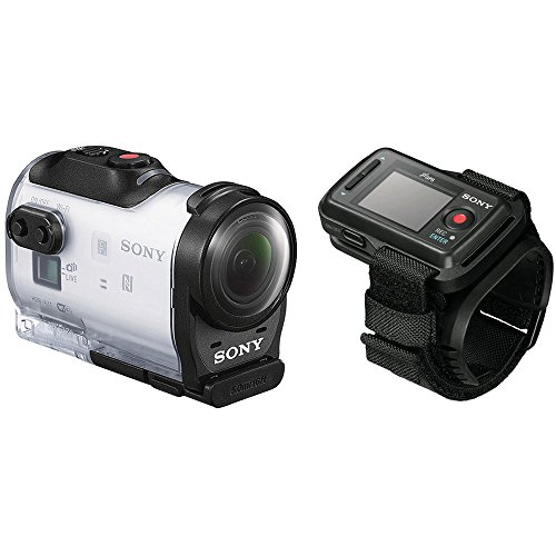 Sony HDR-AZ1VR Waterproof Action Cam Mini with RM-LVR2V Live View Remote Watch and Tripod Adapter (Wi-Fi, GPS Tagging, 11.9MP Photos, 1080P Video) (Waterproof Camera Sony)