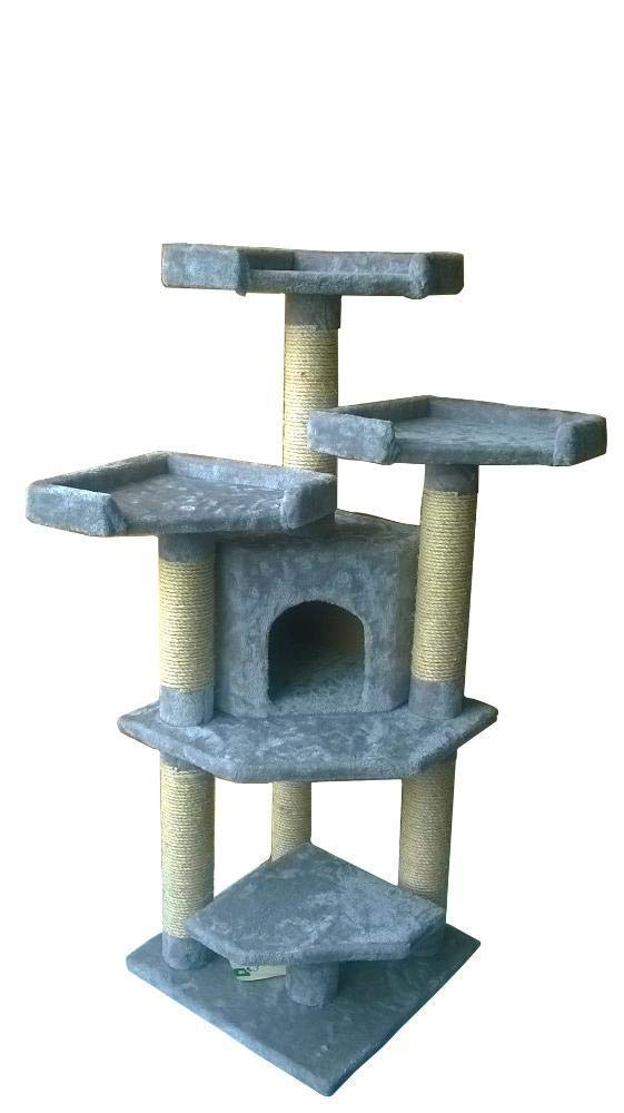 Deluxe Multi Cat Tower cat Trees Towers Cat Tree Pet Supplies 45  45  120cm