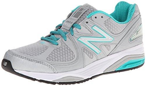 New Balance Women's W1540V2 Running Shoe, Silver/Green, 9 D US
