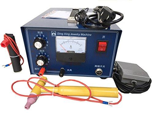 dx-50 a joyería punto láser máquina de soldadura soldador 500 W 50 A oro plateado platino palladiu o, ca 110 V: Amazon.es: Bricolaje y herramientas