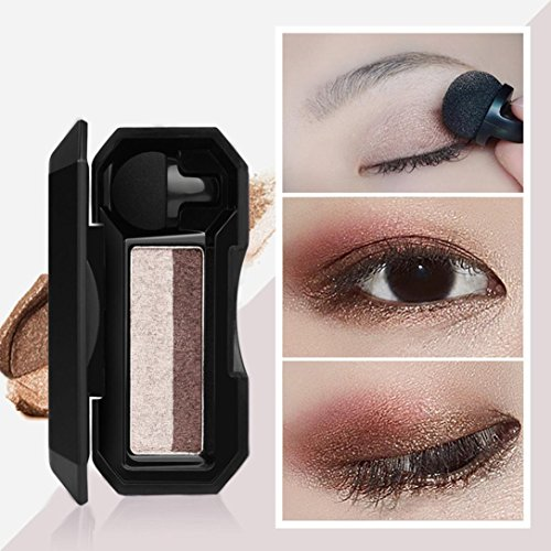 XEDUO Waterproof Shimmer Two-color Stamp Eyeshadow Palette Makeup Powder Flexibility Lasting Natural Shimmer Set (Makeup Eye Shadow Duo)
