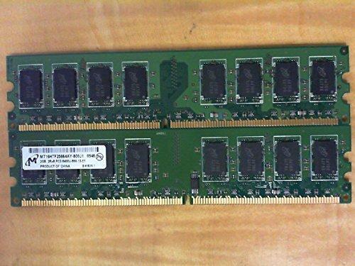 MICRON MT16HTF25664AY-800J1 2GB DESKTOP DIMM DDR2 PC6400(800) UNBUF 1.8v 2RX8 240P 256MX64 128mX8 CL (Pc6400 Memory Desktop)