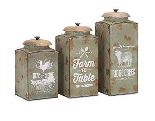 IMAX 95727-3 Farmhouse Lidded Canisters - Set of ()