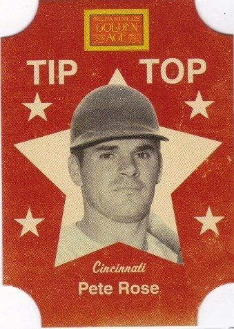 2013 Panini Golden Age Tip Top Bread Labels #7 Pete Rose - NM-MT