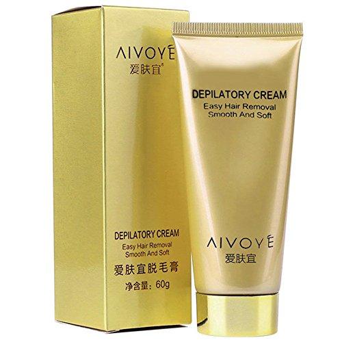 AIVOYE Full Body Hair Removal Cream Hair Growth Inhibitor Painless Permanent Depilatory Men Women