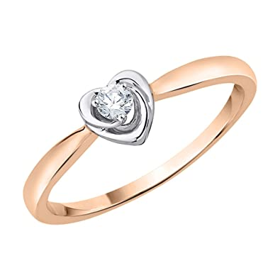 2e1a779d04a Amazon.com  KATARINA Diamond Accent Heart Promise Ring in 10K Gold ...