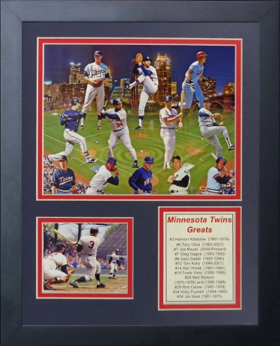 Legends Never Die Minnesota Twins Greats Framed Photo Collage, 11 by 14-Inch