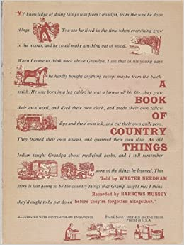 A Book of Country Things Download PDF ebooks