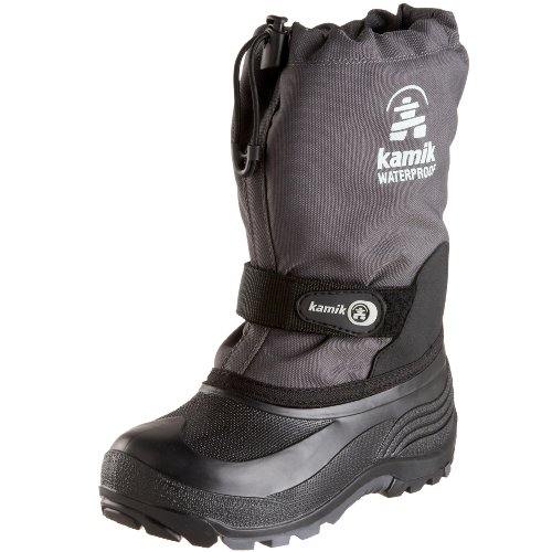 [Kamik Waterbug 5 Cold Weather Boot (Toddler/Little Kid/Big Kid),Charcoal,1 M US Little Kid] (Boots For Boys)