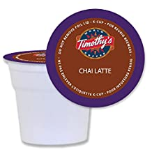 Timothy's World Coffee Chai Latte K-Cups for Keurig Brewers 24 Count