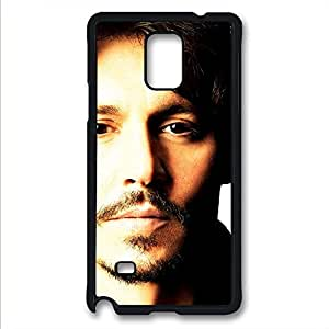 Samsung Galaxy Note 4 Case,Black,PC(Polycarbonate plastic)Rugged Hybrid Plastic Shockproof Hard Case(Case can be customized)Drop Protection,Slim Fit,Ultra-thin case-Johnny Depp 45