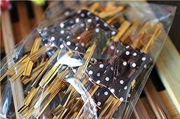 100 Stück Schnürsenkel Schnürband in Draht für Taschen Verschluss ...