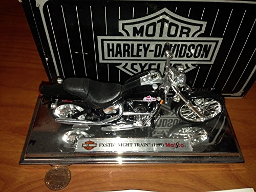 Harley Davidson FXSTB Night Train 1999 1:18 Die Cast for sale  Delivered anywhere in USA