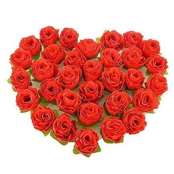 50 Heads Artificial Rose Silk Flower Wedding Patry Home Car Decor Flower DIY GW