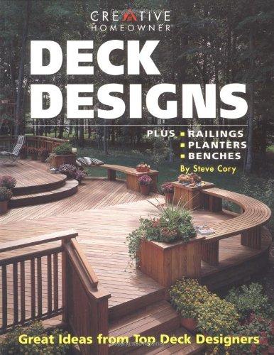 Deck Designs: Plus Railings, Planters, - Free Garden Bench Plans