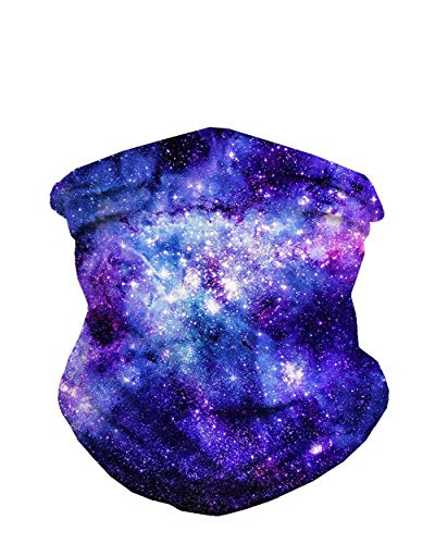 INTO THE AM Stardust Seamless Rave Mask Bandana - Multi-Functional Galaxy Print ()