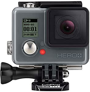 GoPro HERO - Videocámara deportiva LCD (pantalla táctil integrada + altavoz, impermeable hasta 40 m),