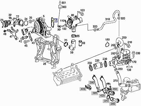 Amazon Com Mercedes Om651 Engine Water Coolant Pump Seal Gasket