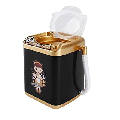 Tnfeeon Washing Machine Toy, Mini Household Appliances Toy Washing Machine with Dehydration Function Makeup Brush Cleaner for Kids Children: Toys & Games