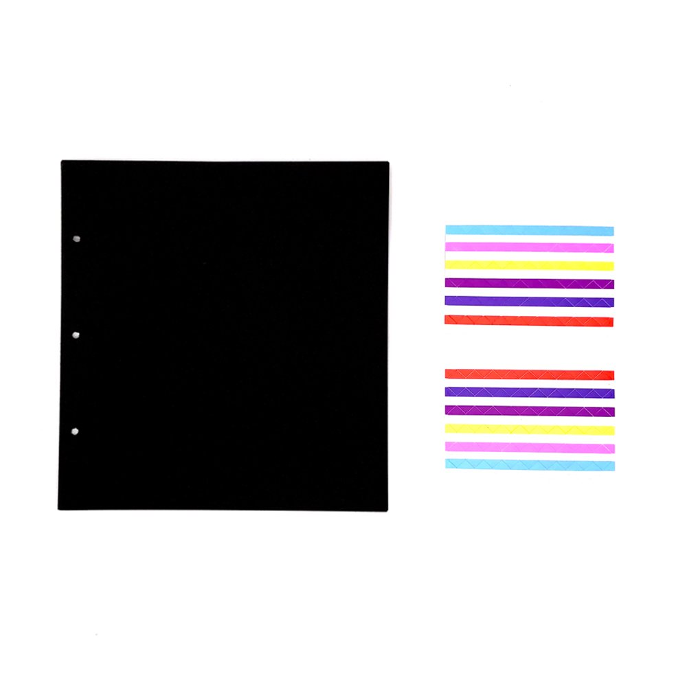 ThxMadam Scrapbooking nero Carta 23.5x17.5CM, 20pcs Extra Refill Pagine Carta Bianca Interna del Libro Fotografico per Scrapbook Fai Da Te Foto Album 26.5x19CM per Album 'Dente di leone B'