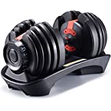 LCNING Dumbbell Set Gym Bicep Weight Training Adjustable Dumbbell Gym Equipment Body Building Automatically Dumbell Training Arm Muscle Fitness 50 LB