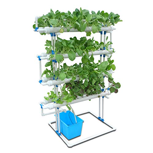 ZDYLM-Y Hydroponic Grow Kit, 4 Layers 88 Plant Sites PVC 8 Pipes Hydroponics Growing System, Garden System Vegetable Tool Grow Kit