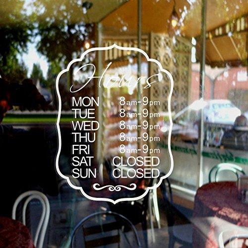 coffee shop window decal - 1