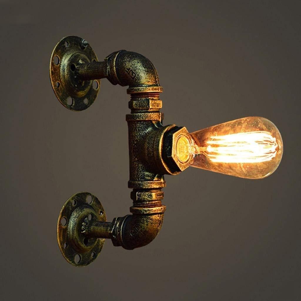 Industrielle Vintage rustikale Steampunk Metall Wasserpfeife Retro Wandleuchte Wandleuchte Edison E27 1 leuchtet Wandleuchte für Gänge Wohnzimmer Schlafzimmer Wand Laterne