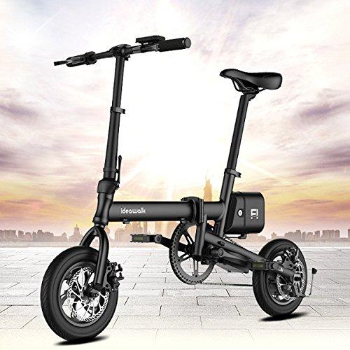 電動アシスト自転車 12インチ 折りたたみ 電動 アシスト 自転車 折りたたみ自転車 日本製PANASONICリチウムバッテリーセル搭載 ブラック 法律に合う 公道で走行可能 B07DGS65Q4