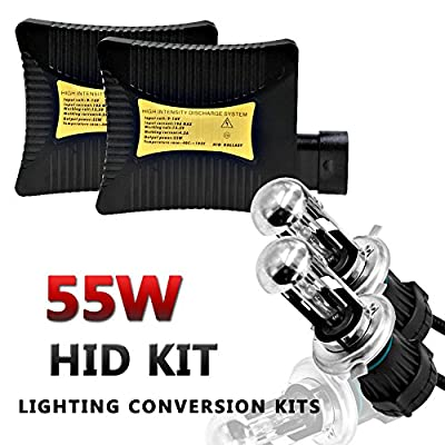 Ocamo H4-3 BI-XENON HI/LOW HID Xenon Replacement Headlights Set 4300K/5000K/6000K/8000K/10000K/12000K Daylight 12V 55W