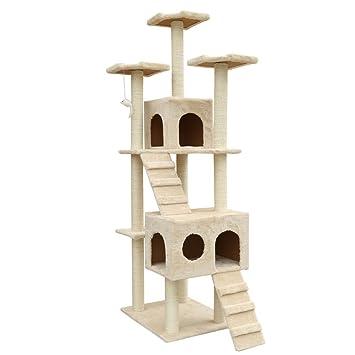 Árbol rascador para gatos Club de acción, de 183 cm, centros de ...