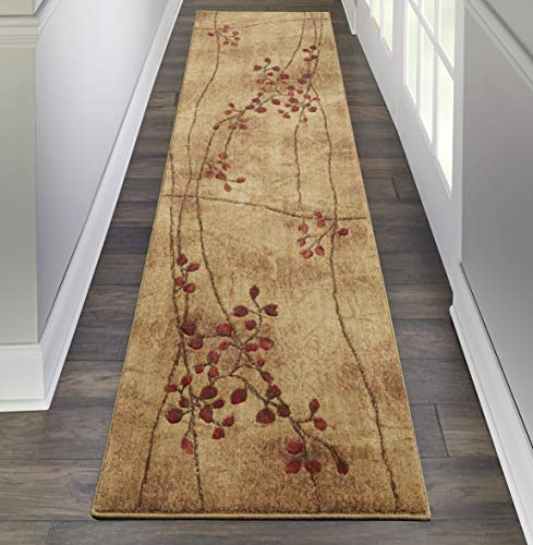 (Nourison Somerset Latte Runner Area Rug, 2-Feet 3-Inches by 10-Feet  (2'3