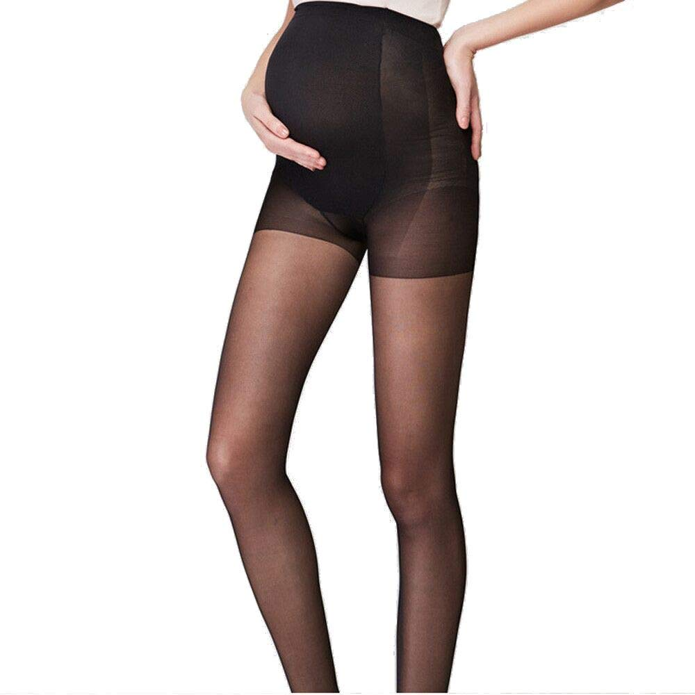 Women's Maternity Soft Stretch Pantyhose Tights Adjustable Opaque Pantyhose One Size Fits All