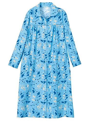Womens Cotton Flannel Lounger (AmeriMark Women's Cozy Flannel Duster LG (14-16)/Blue)
